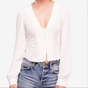 SOLD LOCAL Free People Maise Top in white